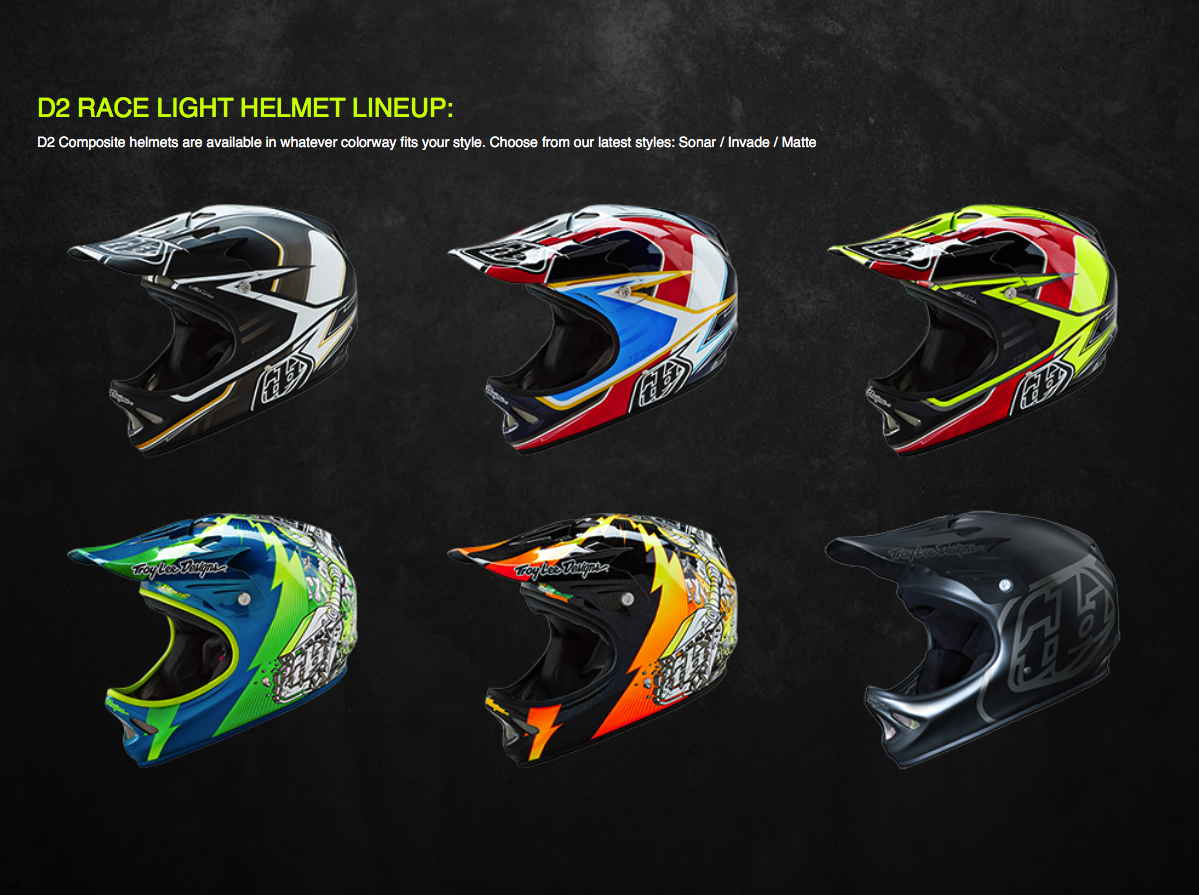 The D2 fits the biker who wants Troy Lee Designs style and protection of a D3, but at a lower cost.