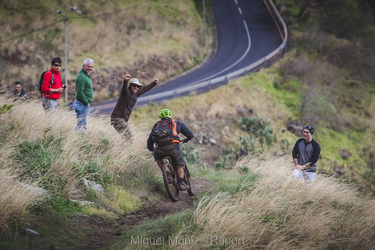 "If you're into cars and seen the famous Madeira Rally you should know the locals are wild and love to be close to the action! That's a ""poncha"" belly in green, google it."